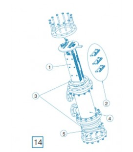 Repuesto electrodo DOM-90 IDEGIS. R-090
