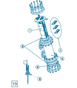 Celula Vaso D-250/300/500/600 EX/+ IDEGIS. R-147