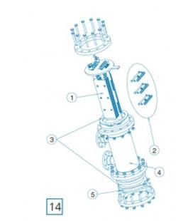 Repuesto electrodo D-450/500 Estandar Idegis. R-009