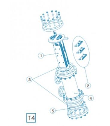 Celula Vaso D-250/450/500 IDEGIS. R-143