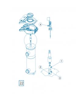 Repuesto lampara VEGA-20 Idegis. UVLP-1-75