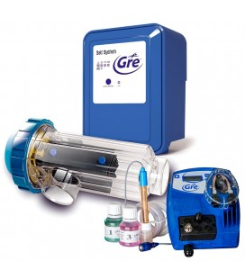 Clorador salino Gre Salt System 21g/h + Ctrl. pH. SCGPH100
