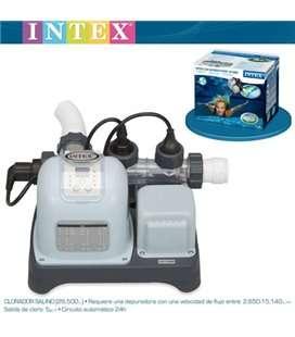 Sistema de Cloración Salina Krystal Clear-Max 26.500L Intex. 54606